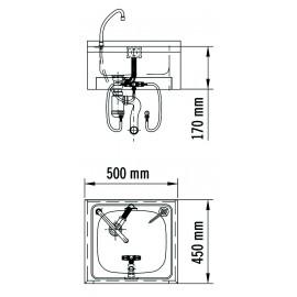 SNLMP40CS | Lavamanos con pulsador