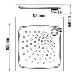SN0800CS | Plato de ducha