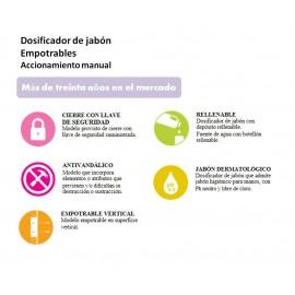 DJE0010CS | Dosificador de Jabón Manual