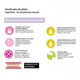 DJ0053CS | Dosificador de Jabón Manual