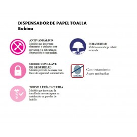DT0201 | Dispensador de papel toalla bobina