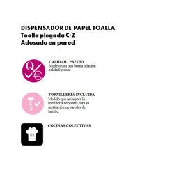 DT0505 | Dispensador de papel toalla  C/Z