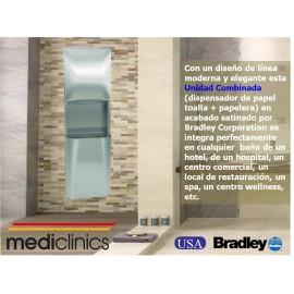 2A05-10 | Dispensador papel toalla y papelera, Bradley