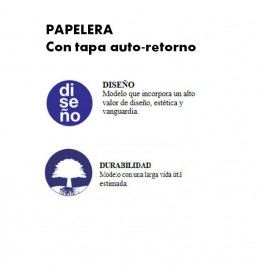 PP0050 | Papelera con tapa auto-retorno