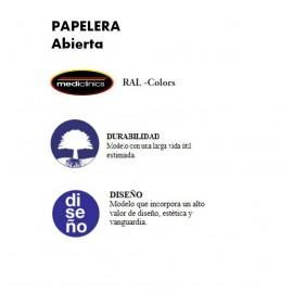 PP1022RAL | Papelera abierta