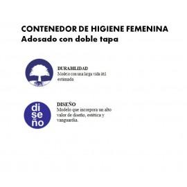 PP0010 | Contenedor higiene femenina. Pared. Doble tapa
