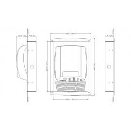 Mediflow Kit Empotrable | Secamanos Automático