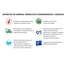 Lesspack Amoniacal | Detergente superconcentrado amoniacal