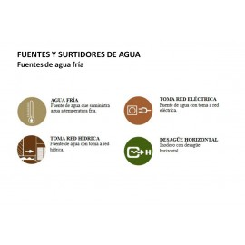FA0025UP | Fuente - Agua fría - Mural