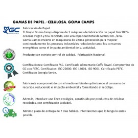 GOMA CAMPS Pañuelos de bolsillo | Celulosa Virgen  3C
