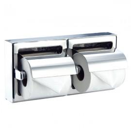 AI0320CS| Portarollos doble con tapa empotrable Medisteel