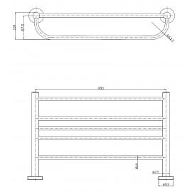 AC0959C| Estante para toallas con barra Medicrom