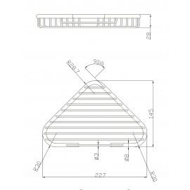AC0964C| Jabonera tringular con rejilla